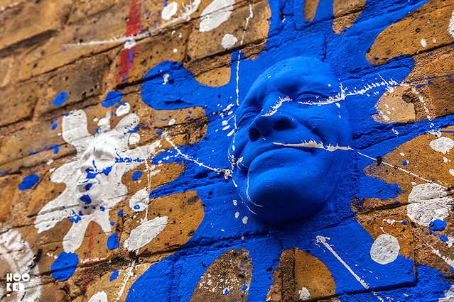 French street artist Gregos' 3D Street Art Faces in London