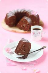 Vegan Chocolate Semolina Cake with Pears and Walnu…