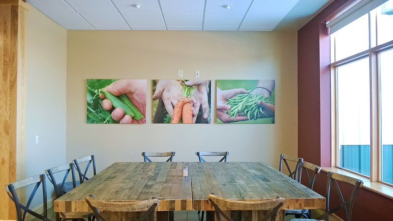 69/365. improbably, my disembodied hands still hang in the cafe at organic valley hq.