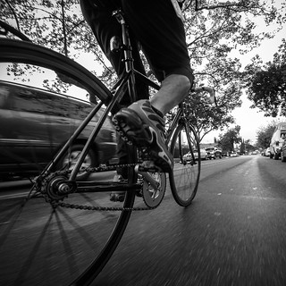 Didn't realize there was #rain in the forecast.  #biking #commuting #street #blackandwhite #gopro