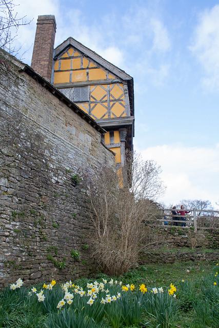 Stokesay castle moat