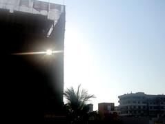 Mighty sun piercing through impenetrable
