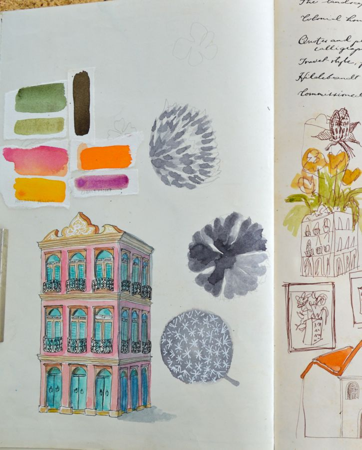 studies and thumbnails (Casa das Flores)