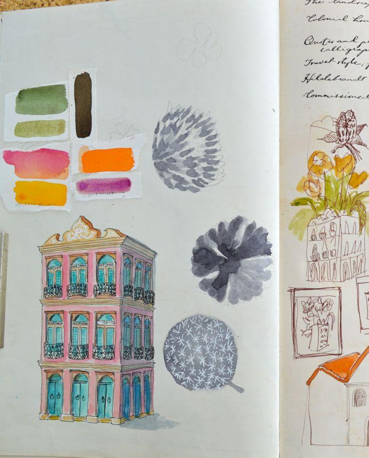 studies and thumbnails (Casa das Flores)