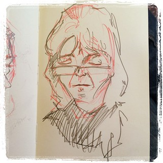 #train #portrait #urbansketch