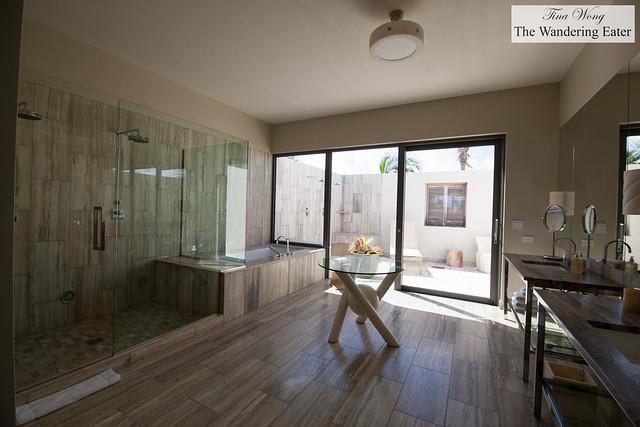 Huge bathroom at the Four Bedroom Oceanfront Villa