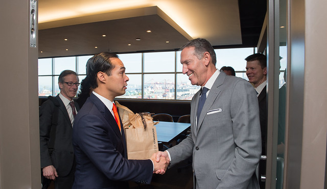 SOHUD Castro meeting with Starbucks Howard Schultz