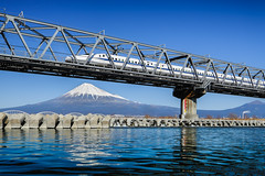 Symbols of Japan ... Fujisan and Shinkansen