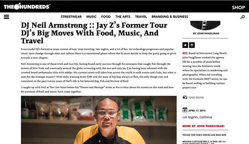 Interview on the Hundreds X DJ Neil Armstrong - Food, Music and Travel...