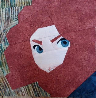 Merida. Paper pieced. Fandom in Stitches