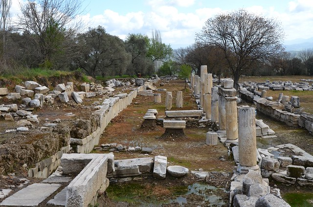 The Stoa surrounding the Temple area, Sanctuary of Hecate in Lagina, Caria, Turkey