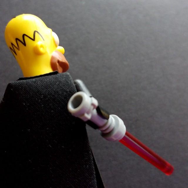 Homer Simpson as Darth Vader