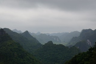 Views from our high point in Cat Ba National Park
