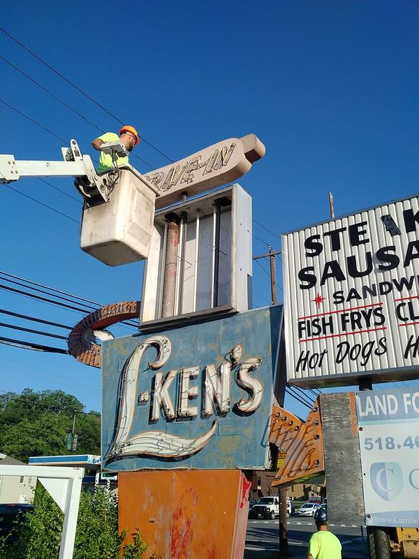 L-Ken's sign demolition