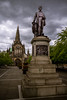 UK - Scotland - Glasgow - Livingstone Statue and Cathedral