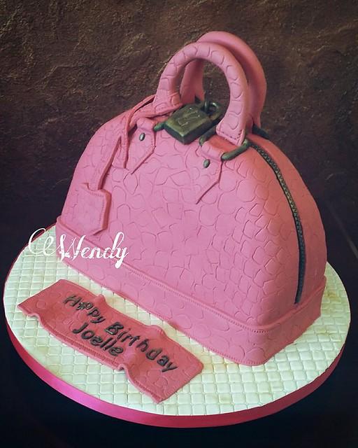 Pink Bag Cake by Wendy George Farwe of Wendy's sweet cake