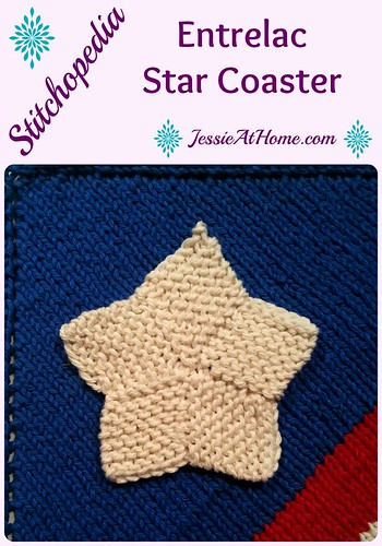 150418 Stitchopedia ~ Entrelac Star Coaster pattern with video by Jessie At Home
