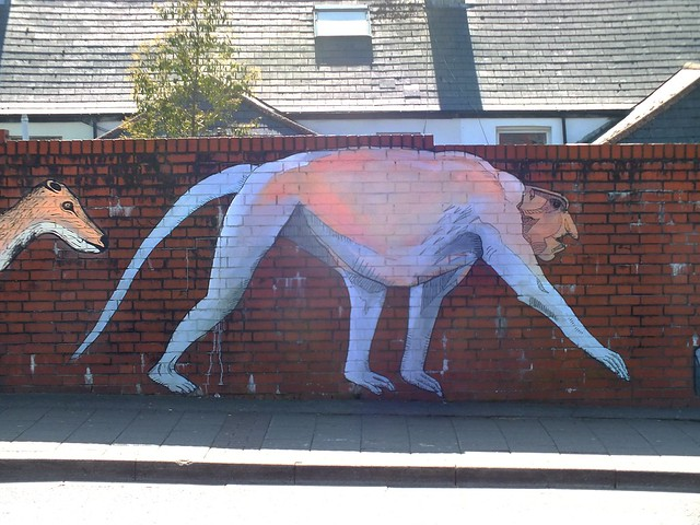 Evolution street art by HB