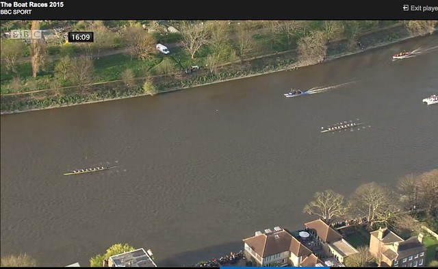 Screen shots of The Boat Races 2015