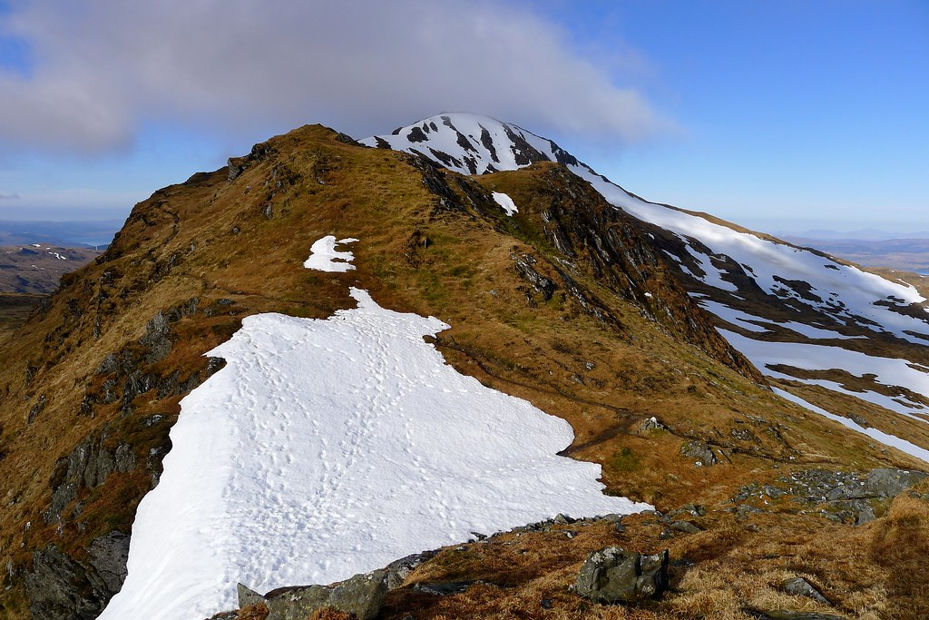 The ridge of Beinn Bhuidhe