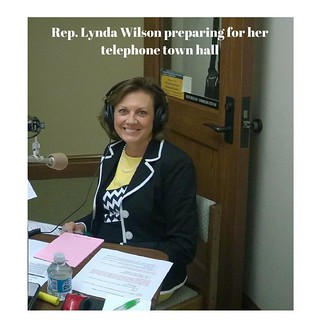 Rep. Lynda Wilson preparing for her telephone town hall