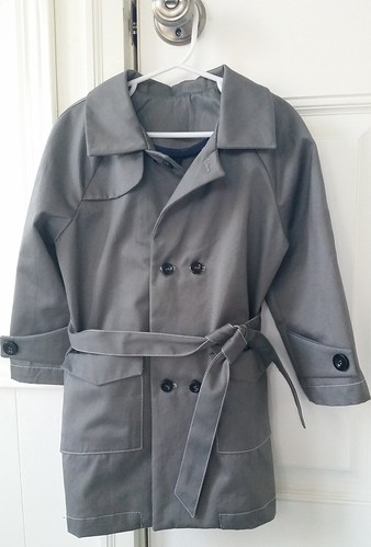 Oliver and S secret agent trenchcoat, size 4T.