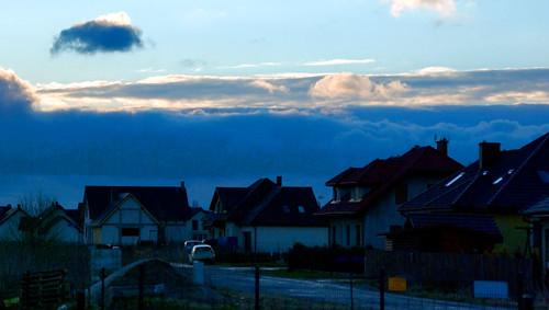 sunrise landscape poland polska stormclouds housingestate krajobraz osiedle dobrzykowice wschódsłońca światłocień czarnechmury chairscuro