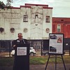A shot of me at the @preservearkansas 2015 Most Endangered Places announcement today...