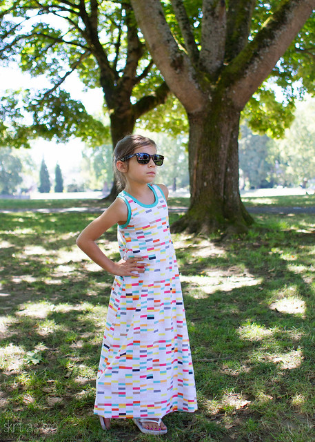 ice cream shop maxi dress // skirt as top