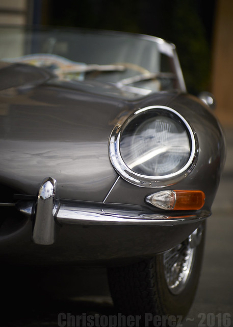 Jaguar E-type ~ la traversee de Paris estivale 2016