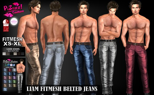 LIAM BELTED JEANS PIC