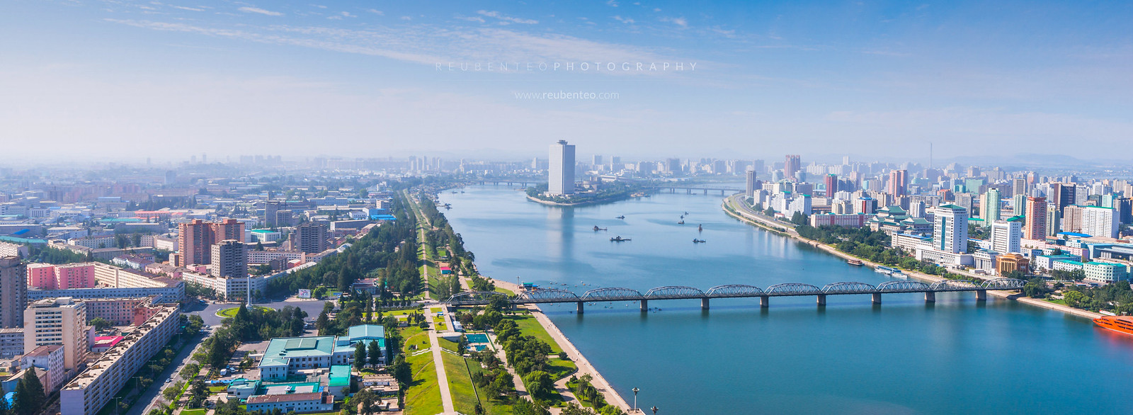 Pyongyang City Skyline