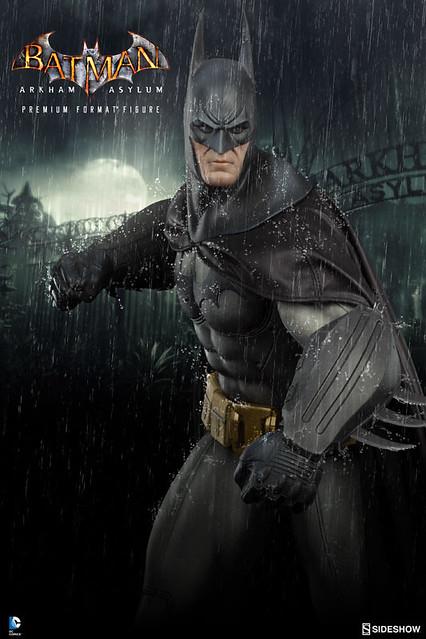 Sideshow Collectibles【蝙蝠俠:阿卡漢療養院】Batman 1/4 比例 全身雕像