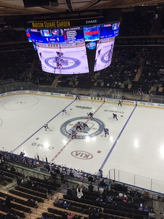 Opening Faceoff - 2nd period New York Rangers