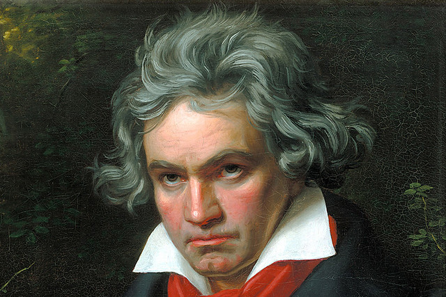 Ludwig van Beethoven by Joseph Karl Stieler, 1820. Courtesy Wikimedia Commons