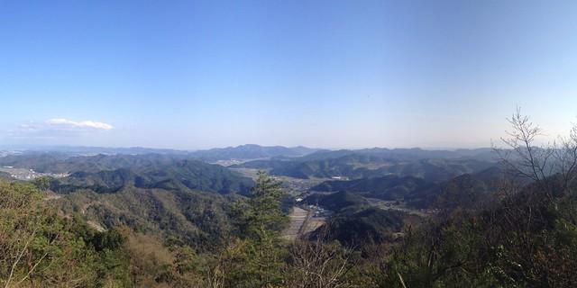 古城山 ミニ大桑城からの眺望