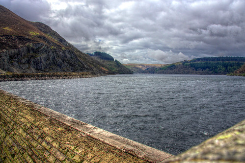 The Elan Valley - view over dam