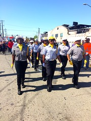 #ilwu drill team leading #MayDay March from port of #oakland to #OscarGrant plaza #1u