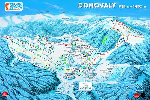 Donovaly - mapa sjezdovek