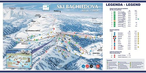 Bachledova dolina - Jezersko - mapa sjezdovek