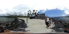 Pu'uohonua 'o Honaunau City of Refuge - a 360 degree Equirectangular VR