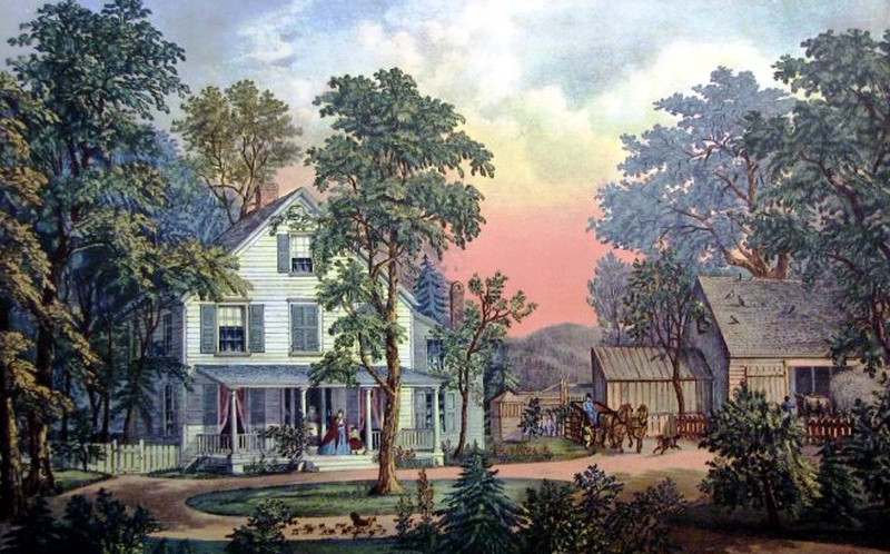 The Farmers Home   Summer  1864. Currier   Ives  the Essential Decoration for Victorian Homemaking