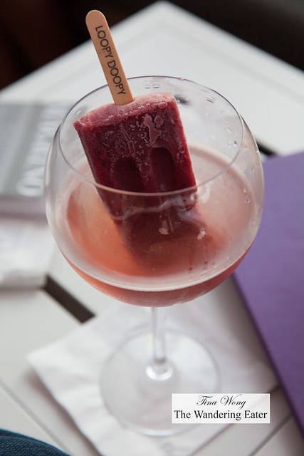 Blackberry Lemonade Spritzer (popscicle made with French brandy)