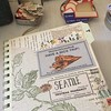 Working on a journal for our Seattle getaway over Labor Day weekend. #journal #travel #seattle #amtrak #iwantalltheoldpaper #ephemera
