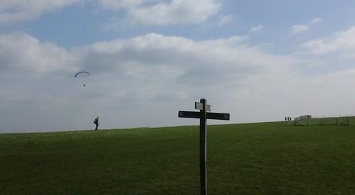 Walkers, footpaths, hang-glider.
