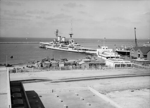 Puerto de Haifa durante la Segunda Guerra Mundial