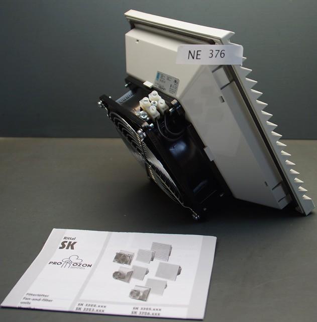 2 Stück Rittal Filter Fan SK3323107, 204X204