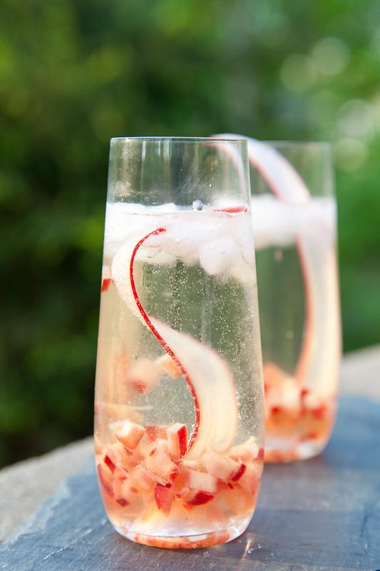 Rhubarb Prosecco Sparkler