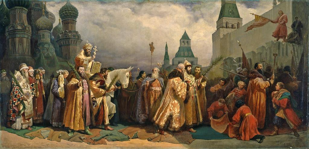 Вербное Воскресенье на Руси