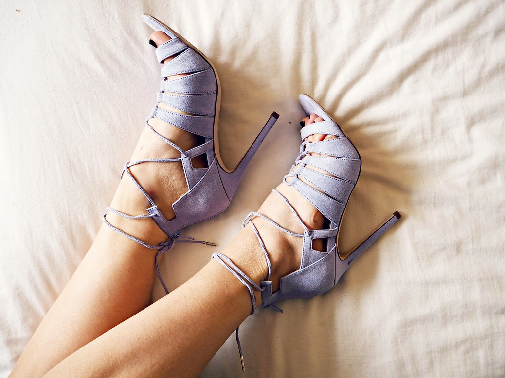 ASOS lilac lace up shoes